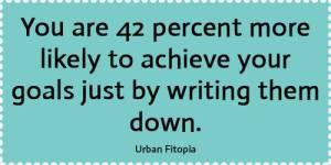 Written Goals